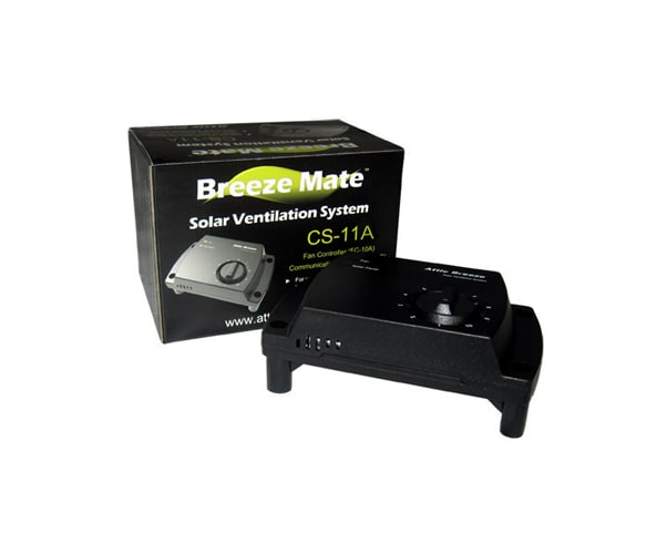 Attic Breeze CS-11A N/A Controls Breeze Mate Solar Attic Fan Controller for Models with Attached Solar Panels