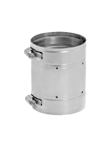 DuraVent 11VG-C Stainless Steel Flexible Liner 11 Inner Diameter - Ventinox Flexible Liner Chimney Relining - Single Wall - 4.5 Coupler