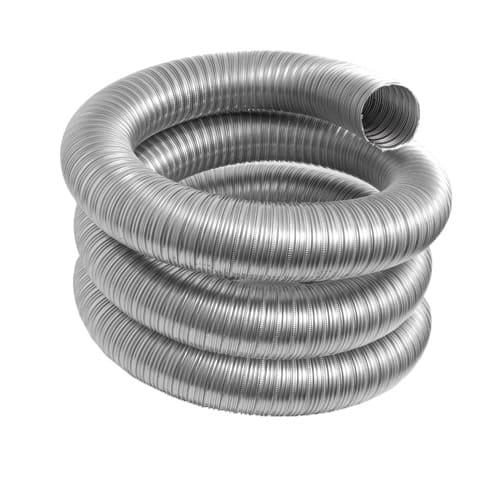 DuraVent 3VFT-25BL Stainless Steel Flexible Liner 3 Inner Diameter - Ventinox Flexible Liner Chimney Relining - Single Wall - 25  Pipe Length