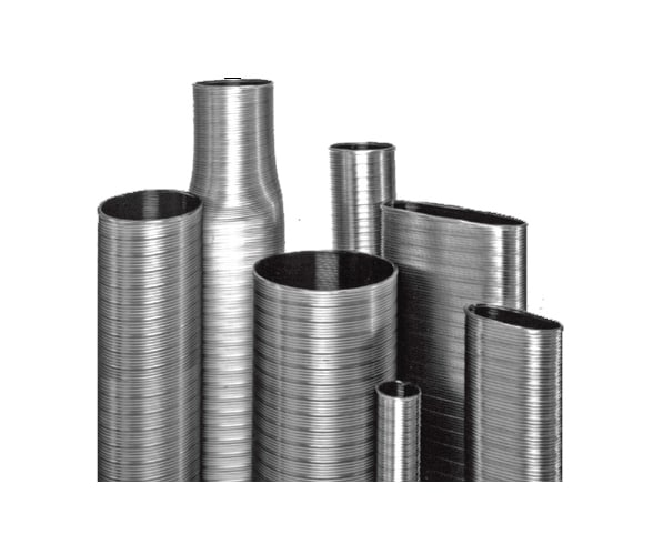 DuraVent 6VFT-X5 Stainless Steel Flexible Liner 6 Inner Diameter - Ventinox Flexible Liner Chimney Relining - Single Wall - 5  Extension Pipe