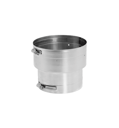 DuraVent 7VG-X8 Stainless Steel Flexible Liner 7 Inner Diameter - Ventinox Flexible Liner Chimney Relining - Single Wall - 7 to 8 Increaser