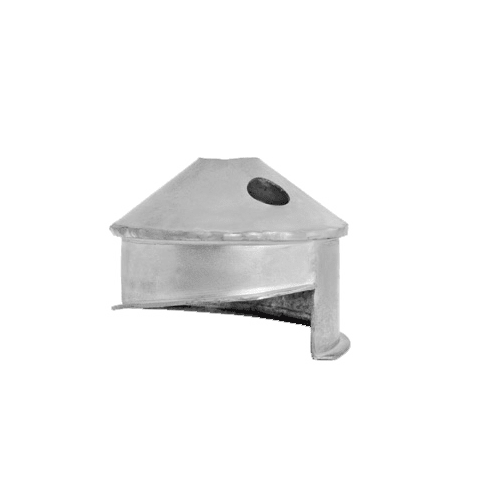DuraVent 8VFT-IC Stainless Steel Flexible Liner 8 Inner Diameter - Ventinox Flexible Liner Chimney Relining - Single Wall - Installation Cone