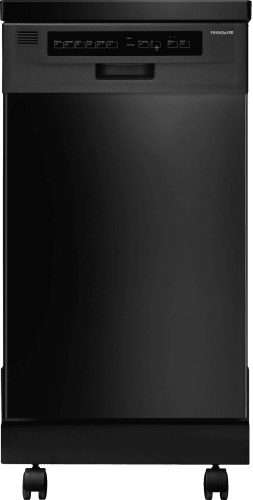 Frigidaire FFPD1821MB Black Dishwasher 18 Portable Dishwasher with Stainless Steel Interior and Delay Start