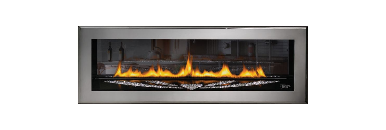 Napoleon Lhd50p2 Propane Painted Black Builtin 30000 Btu 2sided Linear Direct Vent Gas Fireplace