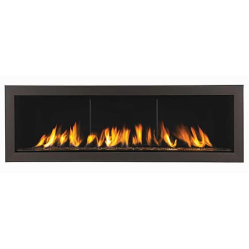 Napoleon Lhd45n Natural Gas Painted Black Builtin 24000 Btu Linear Direct Vent Natural Gas Fireplace