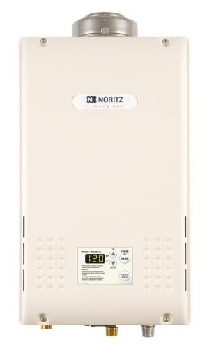 Noritz NR83-DVC-LP Liquid Propane Whole House 8.3 GPM Indoor Liquid Propane  On Demand Tankless Water Heater.