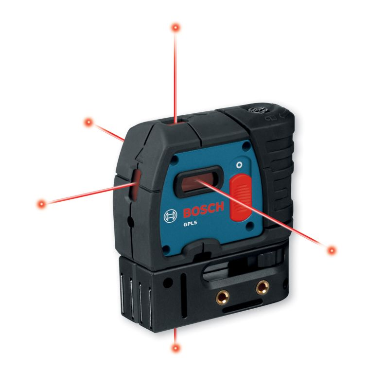 Bosch GPL5 Alignment Lasers Bosch GPL5 5-Point Self-Leveling Alignment Laser