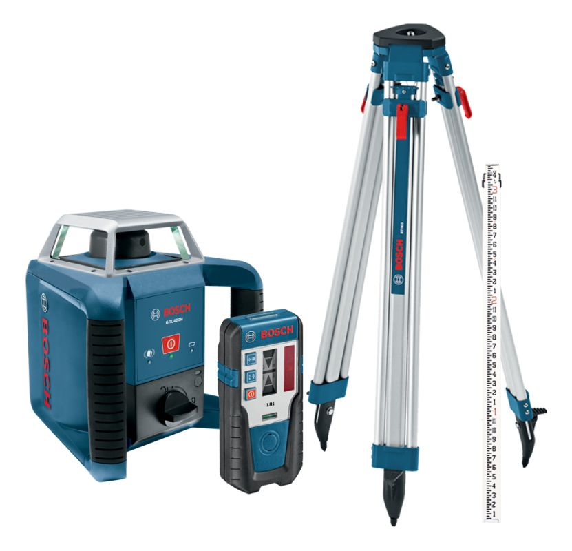 Bosch GRL400HCK Rotary Lasers Bosch GRL400HCK Self-Leveling Rotary Laser with Detector Tripod and Rod