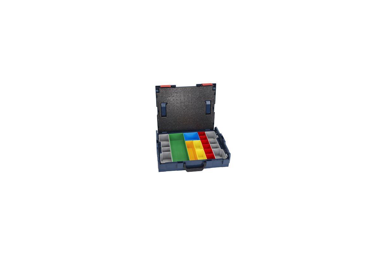Bosch L-BOXX-1A Storage Case Bosch L-BOXX-1A L-BOXX Size 1 Stacking Storage Case with 13 Piece Insert Set