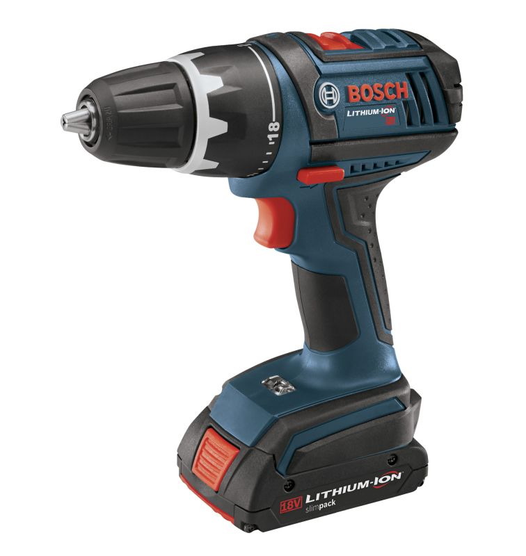 Bosch DDS180-02 N\/A Cordless Drills Bosch DDS180-02 18V Compact Tough Drill Driver with Two 1.3Ah Batteries and Elec