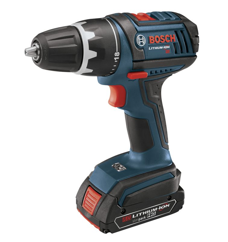 Bosch DDS181-02 N\/A Cordless Drills Bosch DDS181-02 18V Compact Tough Drill Driver with Two 1.5Ah Batteries and Flex