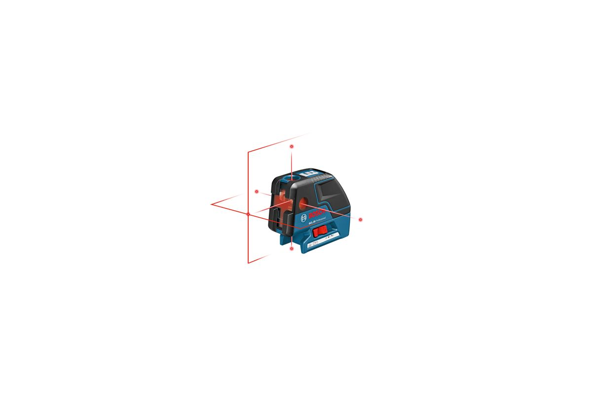 Bosch GCL 25 Line / Dot Laser Levels Bosch GCL 25 Five-Point Self Leveling Alignment Laser with Cross-Line