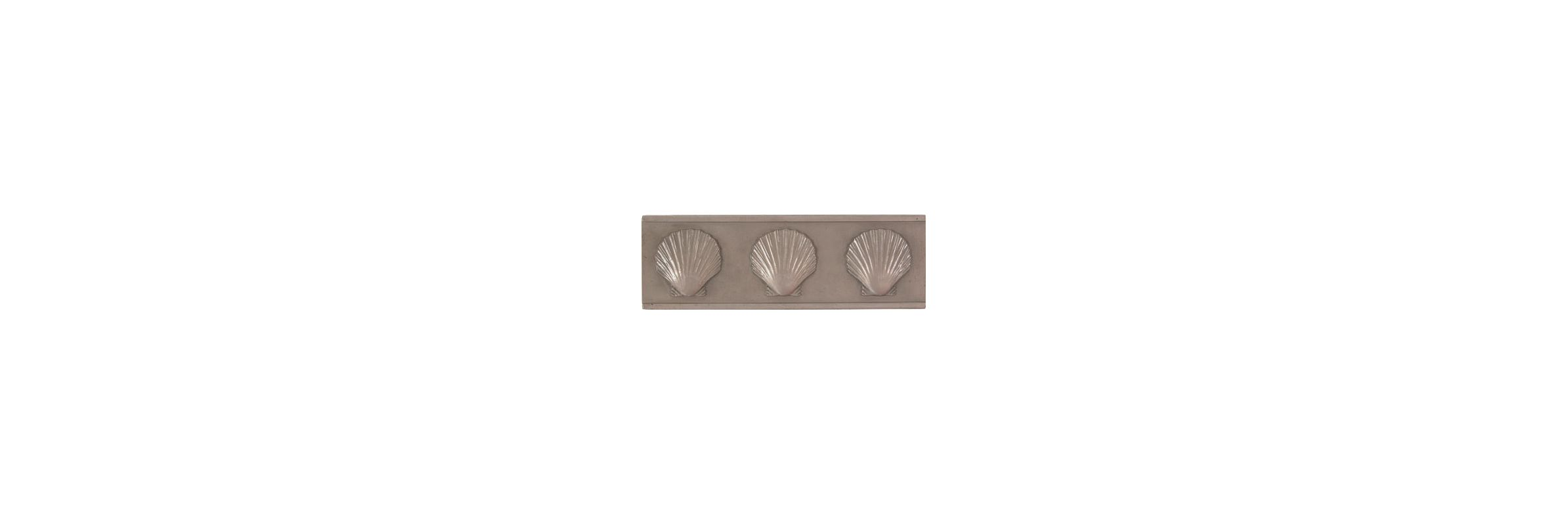 Brass Elegans 52S PWT Pewter Tile Brass Elegans 52S PWT Traditional Shell 6 x 2 Range Hood Backsplash Tile
