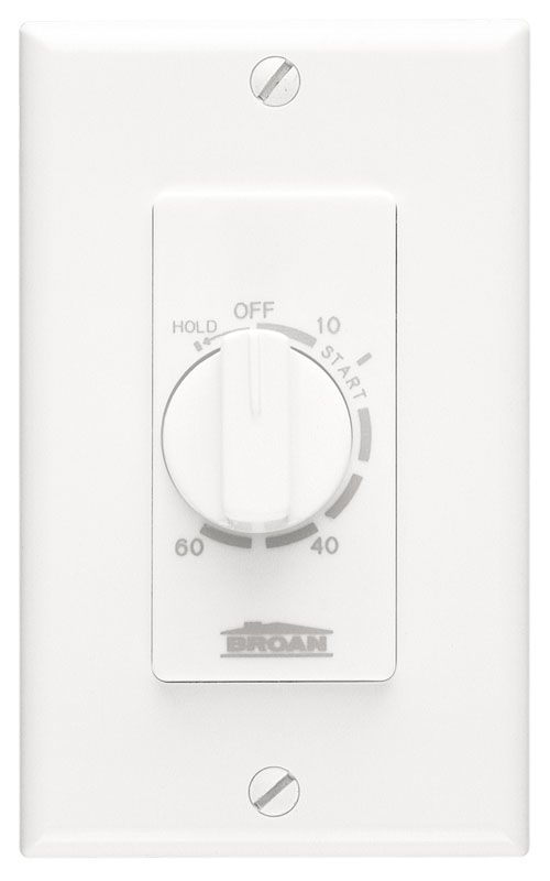 Broan 59w White 60 Minute Timer Switch White