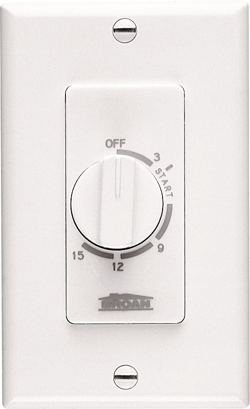 Broan 61w White 15 Minute Timer Switch White
