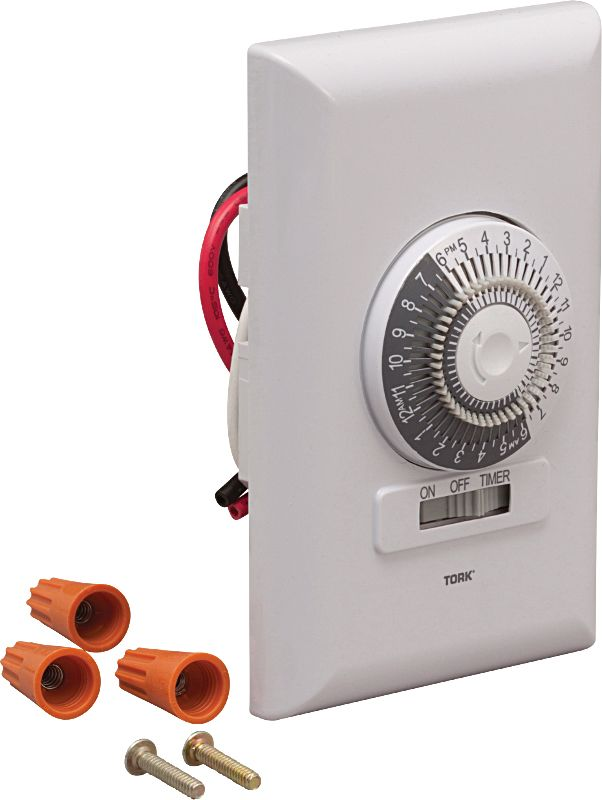 Broan T24H White 24 Hour Programmable Timer Switch