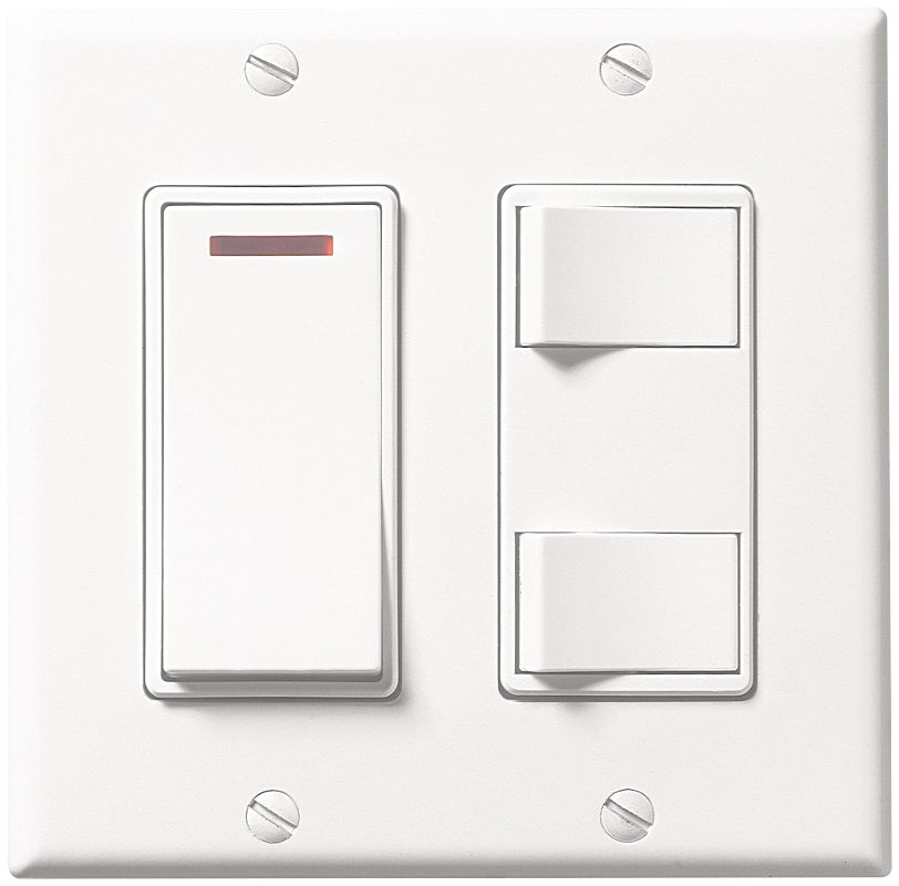 Broan 685wl White 3 Function Rocker Switch With Lighted On