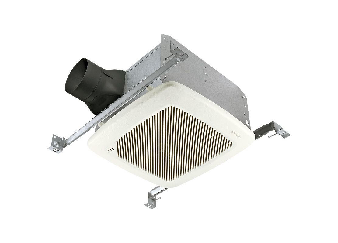 Broan Qtre100s White 100 Cfm 1 5 Sone Ceiling Mounted