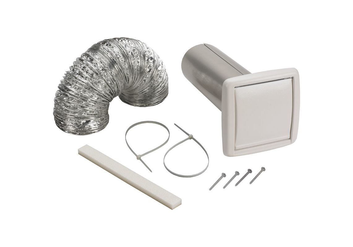 Broan wvk2a n a 4 round duct wall ducting kit for for 2 bathroom exhaust fan venting