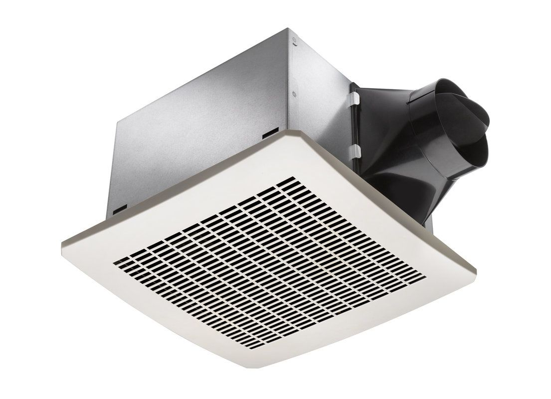 Delta Electronics Sig110h White 110 Cfm 0 3 Sone Ceiling Mounted Exhaust Fan With Humidity