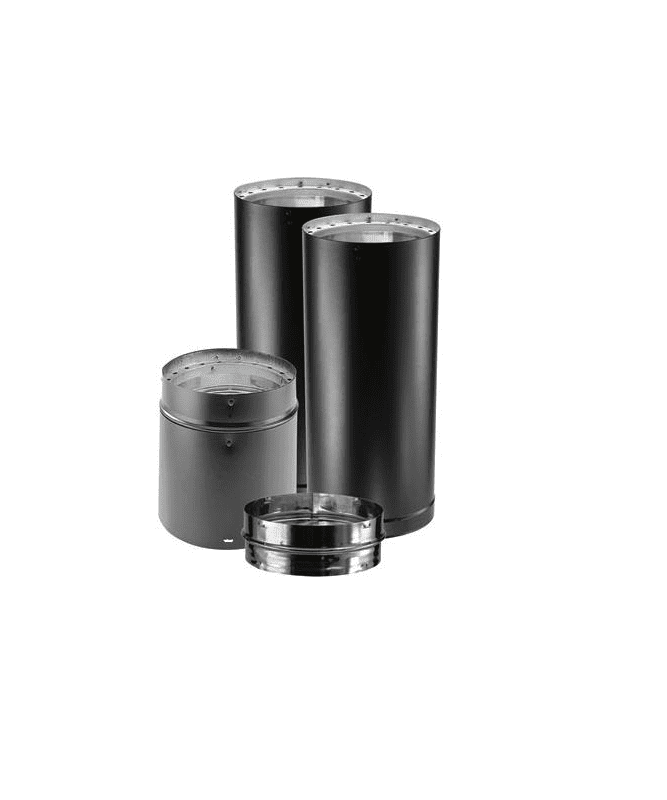 Duravent dvl kvp black quot inner diameter stove pipe
