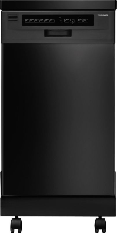 Frigidaire FFPD1821MB Black Portable Frigidaire FFPD1821M 18 Portable Dishwasher with Stainless Steel Interior and D