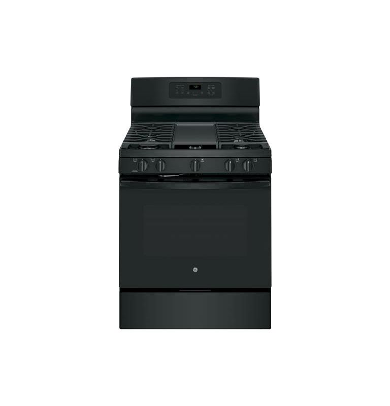 Black Gas  JGB700 30 Inch Wide 5 Cu. Ft. Free Standing Gas Ran with Ed-to-Ed Cookt - GE JGB700DEJBB