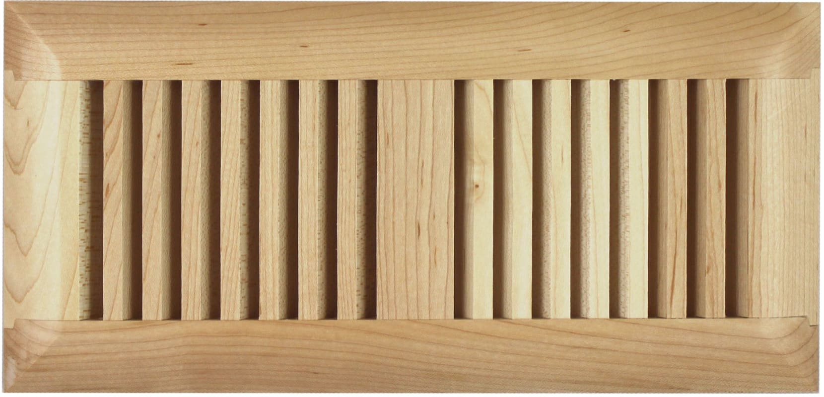 Grillworks trimlinetk2x14mp maple slatted grillworks for Wood floor registers 6 x 14