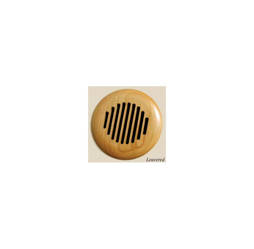 Grillworks Louvered Round Vent Insert Ro Red Oak 5 1 2