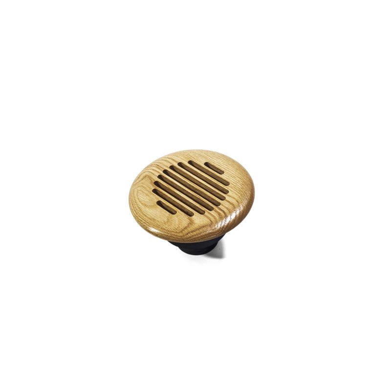 Grillworks Louvered Round Vent Insert 10 Ash 5 1 2 Inch