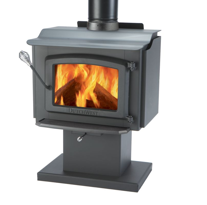 Majestic wr247001 black small mobile home approved high for Most efficient small wood burning stove