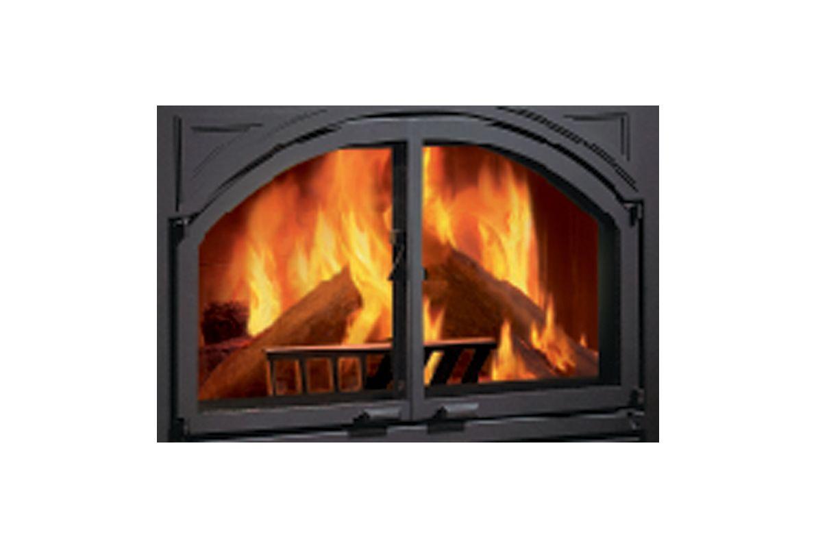 Metalbest Chard Dd B Black Ceramic Glass Doors For Chard Fp Fireplace From The Chardonnay