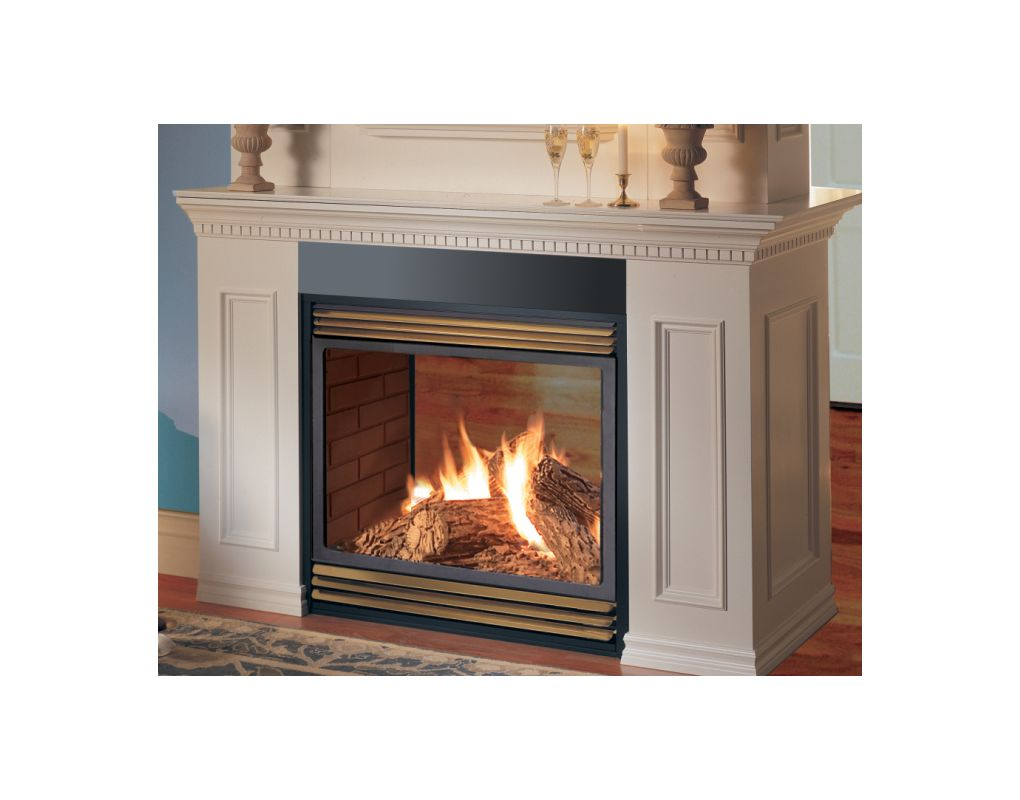 Napoleon Gvf40n2 Natural Gas 30 000 Btu See Thru Vent Free Zero Clearance Gas Fireplace