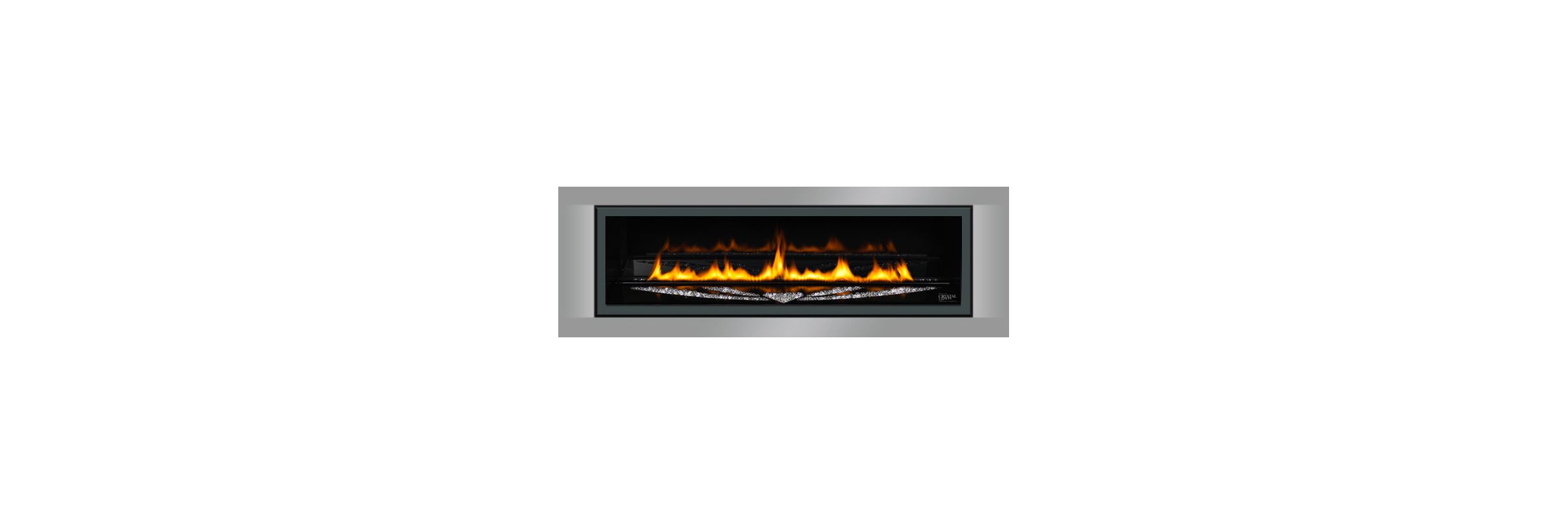 Napoleon Lhdsp50 Pewter Linear Fireplace Surround For Napoleon Lhd50ss And Lhd50 Fireplaces