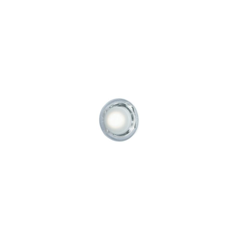 Nutone Pb18lwhcl White Button Clear Bezel Lighted Door