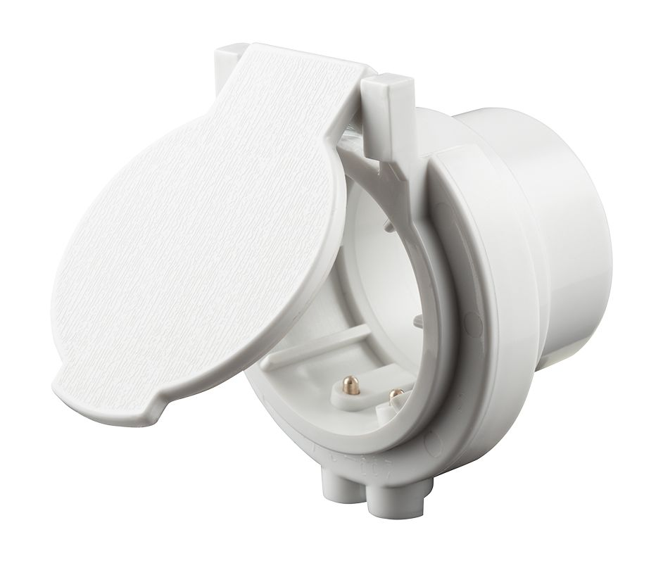 Nutone Cf372 White Utility Inlet For Use With Nutone