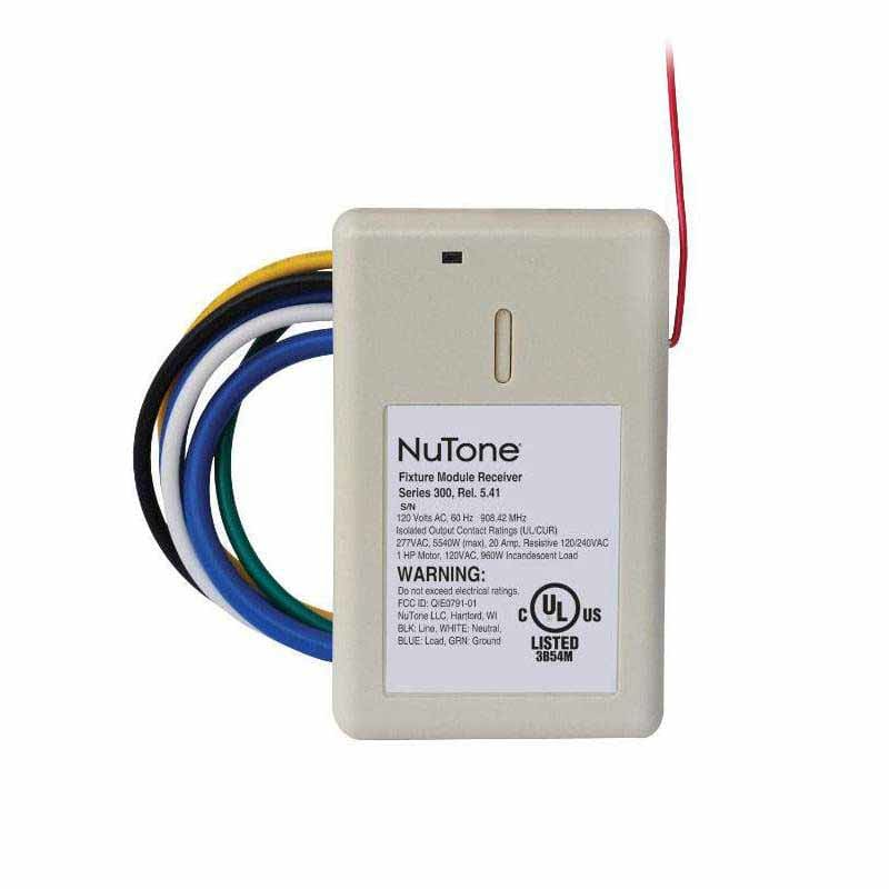 NuTone NFS20Z White Wire-In Modules NuTone NFS20Z Wire-In On/Off Module with Z-Wave Compatibility