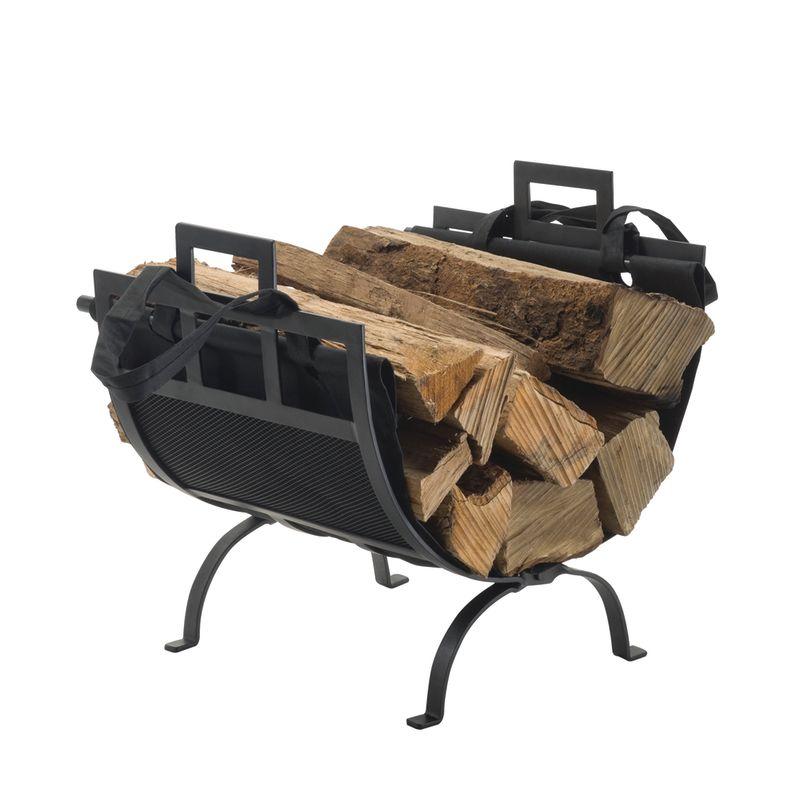 Pleasant Hearth 1085 Black Powder Coated Log