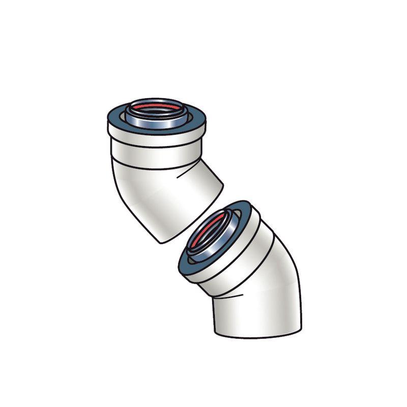 Rinnai 224050 N A 45 Degree Plastic Vent Pipe Elbow Set
