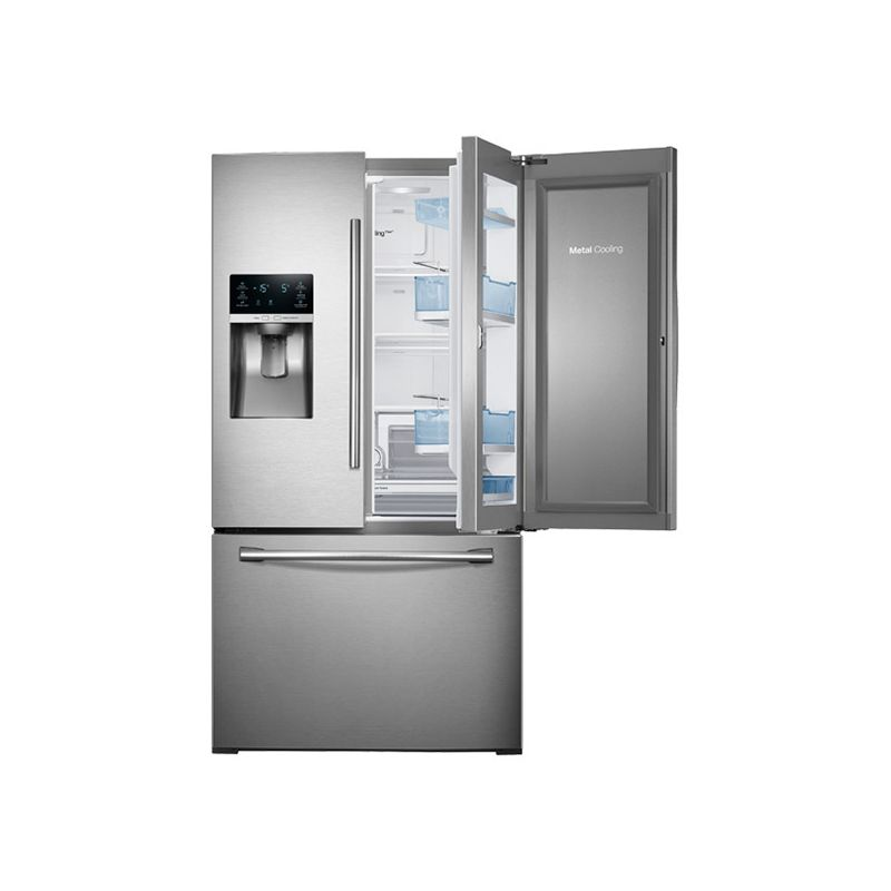 Samsung 28 Cu Ft French Door Refrigerator W Counter Height Drawer Stainl
