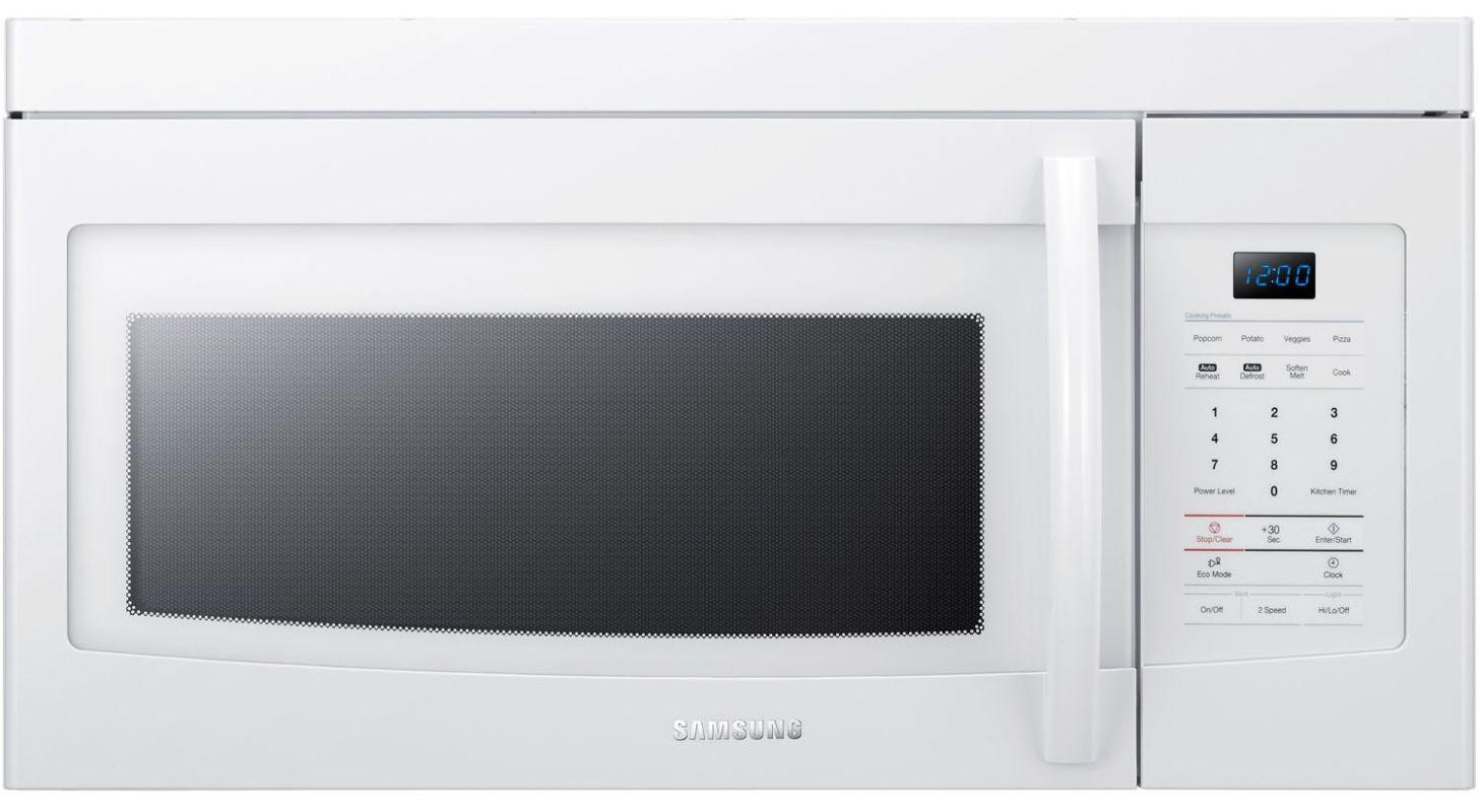 Samsung Smh1622b Black 1 6 Cu Ft Capacity Over The Range