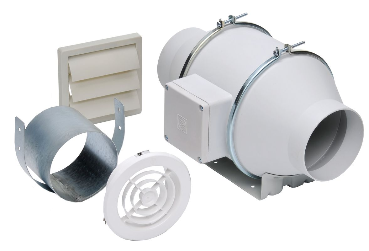 Soler And Palau Kit Td100x White Td 100x In Line Fan Kit