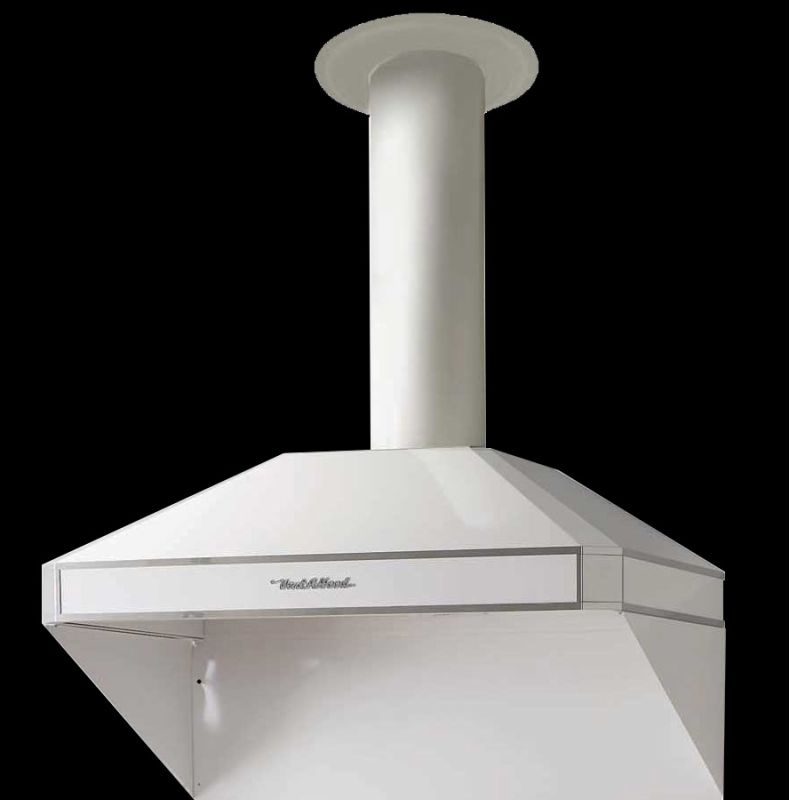 Vent-A-Hood AH12-236 WH White Vent-A-Hood AH12-236 600 CFM 12 Tall 36 Canopy Range Hood with Dual Blowers an