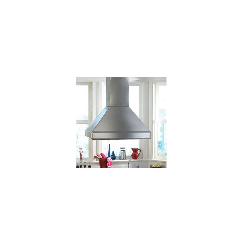 Vent-A-Hood ISDH18-248 SS Stainless Steel Vent-A-Hood ISDH18-248 550 CFM 48 Euro-Style Island Mounted Range Hood with Hal