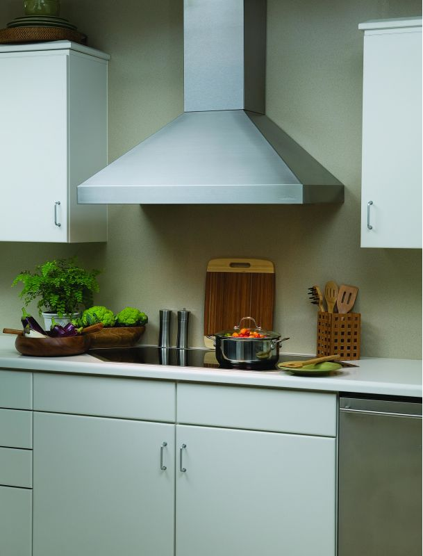 Vent-A-Hood PDH14-136 SS Stainless Steel Vent-A-Hood PDH14-136 300 CFM 36 Euro-Style Wall Mounted Range Hood with a Sing