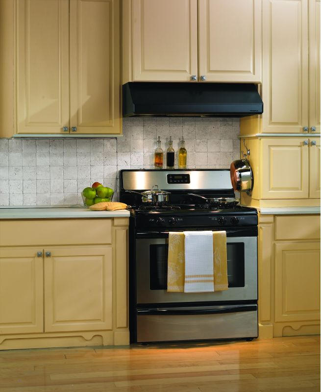 Vent-A-Hood SLH9-236 BL Black Vent-A-Hood SLH9-236 600 CFM 36 Under Cabinet Range Hood with Dual Blowers and