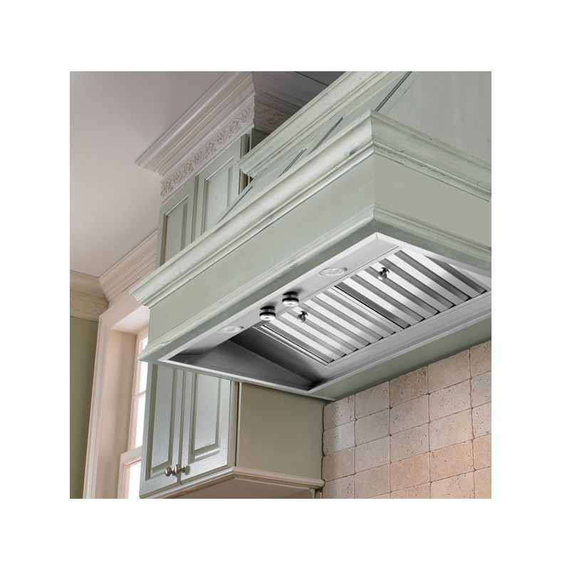 Vent-A-Hood M46SLD SS Stainless Steel Vent-A-Hood M46SLD Wall Mount Liner Insert with Single or Dual Blower Options an