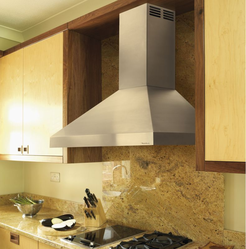 Vent-A-Hood PDAH14-K42 BL Black Vent-A-Hood PDAH14-K42 250 CFM 42 Wall Mounted Duct-Free Air Recovery System (A