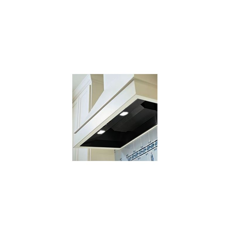 Vent-A-Hood BH246SLDBL Black Vent-A-Hood BH246SLD 600 CFM 6.5 Sone 46-3\/8 Inch Wide Stainless Steel Wall Moun
