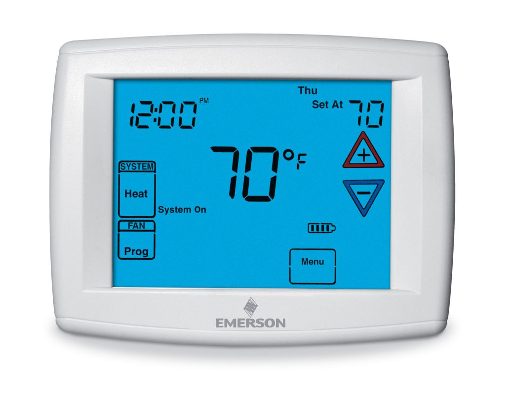 white rodgers 1f95 1280 white universal 5 1 1 or 7 day programmable thermostat with damper. Black Bedroom Furniture Sets. Home Design Ideas
